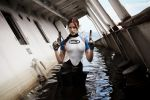 Lara Croft SOLA wetsuit - a pair of brownings by TanyaCroft