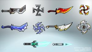 Concepts: Kageko Weapons by GeneralSoundwave