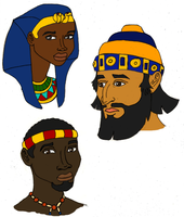 The Pharaoh and the Diplomats (Busts) by DaBrandonSphere