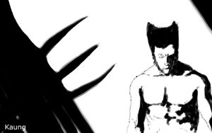 Wolverine Black and White by mrkmhtet