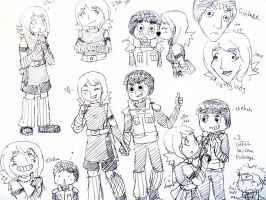 Sairah and Lee Ink Sketches by Creativegreenbeans