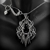 XAQUATRIAN, Silver and Black Onyx. by LUNARIEEN
