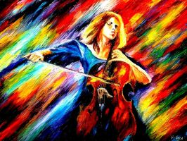 Copy of Afremov's Cellist by Don-Berry