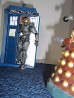 Master Chief is not bothered by Daleks by PropFan