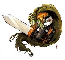 Frog -Chrono Trigger- by TheRagingSpaniard