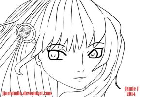 Anime Sketch  can you see the pony :) by jjartstudio