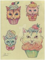 Cupcakish kitties by RayneColdkiss