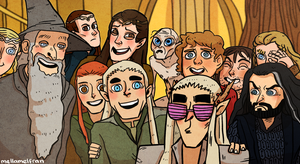 Hobbit selfie by mellamelfran