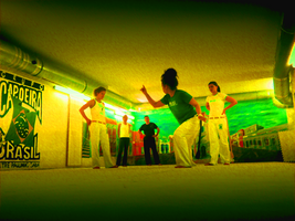 Capoeira training [painted edition] by Arlen-McTaranis