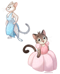 Cats in Dresses by autogatos