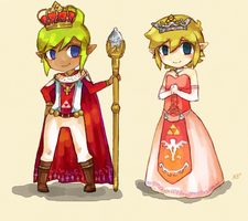 King and Queen by aryllins