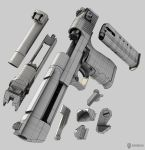 Desert Eagle 3D wires by Beppe87
