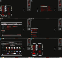 windows 7 theme dark levitator by tono3022