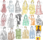 RWBY sketchdump August 2014 by LutherOMight