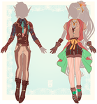 :Comm: outfits for Drake and Anneth by MMtheMayo