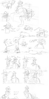 Platypus Day Sketchdump by SecretagentG