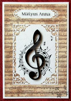 Quilled treble clef by pinterzsu