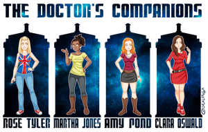 Doctor Who Companions by Costalonga
