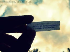 365 Project-Day 62: My Fortune by hourglass-paperboats