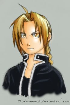 Edward Elric Colored 2 by ClowKusanagi