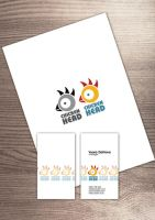 business card chicken head by skaRface6