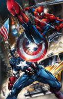 Captain America vs. Spider-Man! by MikeLilly