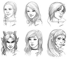Special Portraits Commissions II by CristianaLeone