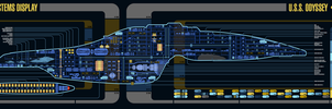 USS Odyssey (NX-94276) - Master Systems Display by sumghai