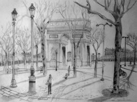 Arc De Triomphe - Paris by AnnaBubblegum