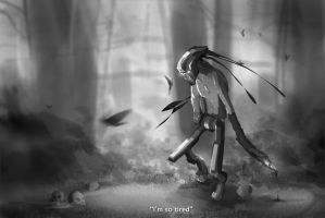 Speedpaint - A Very Sad Little Robot by Susame