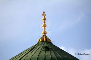The Green Dome of Rasoul ALLAH by laluzdelislam