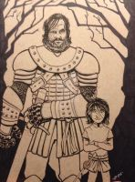 The Hound and Arya by MARR-PHEOS