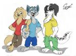 Ginga Densetsu Weed - Three Friends by MartonSzucsStudio