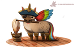 Daily Paint #1015. Pegasus by Cryptid-Creations