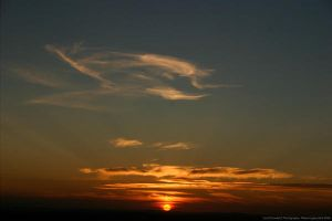 sun goes behind hereford by dowdall