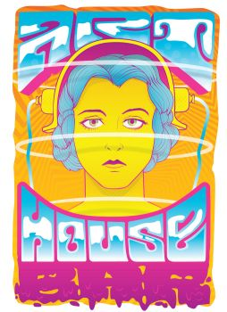 Art House Bar Poster V1 by WonkyDinosaur