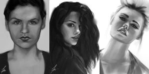 Portrait Sketch Compilation by FelFortune