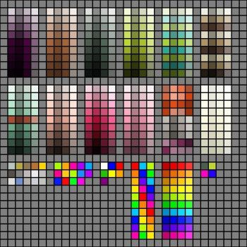 Palette Pack 01 by he4rty