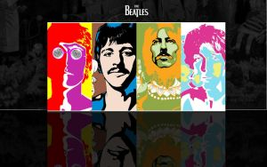 Beatles In Reflection by wallybescotty