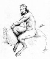 PinUp - Satyr by poisonmilow