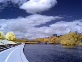The River Exe in infrared: View 16 by yaschaeffer