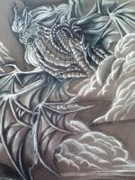 Bahamut in Charcoal by Ghostwalker2061