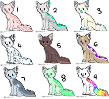 .:Feline Adopts:. {Open || One left} by Flovvers