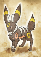 C: Umbreon+Houndoom Fusion by Skeletpengu