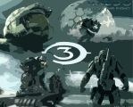 Halo3 Finish The Fight Drawing by HolyestGrail