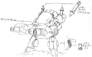 Mecha Sketch 2 by MrDraftsman