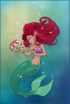 The Little Mermaid - Ariel by PinkaCat