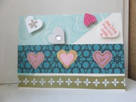 greeting card - Valentine's Day (multi hearts) by inconsistentsea