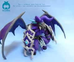 Zeratu clay handmade figure - Summoners War by Booshandmadeshop