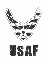 USAF Logo - Black and White by fezbeast